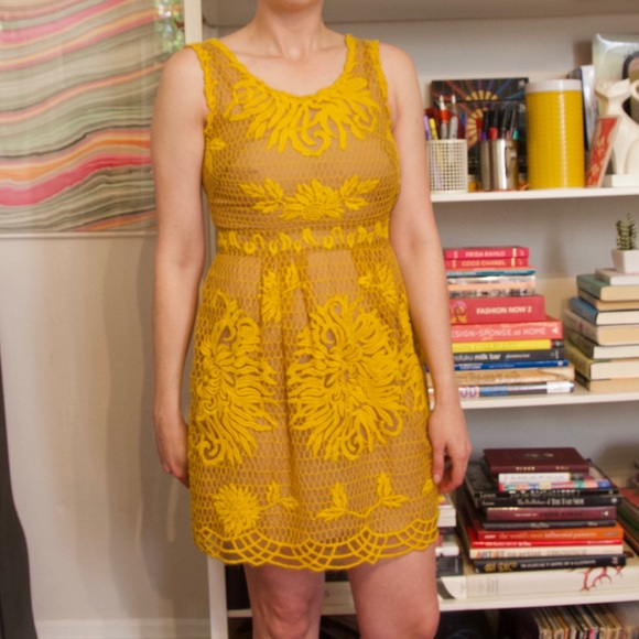 Yoana Baraschi Dresses & Skirts - Yoana Baraschi yellow embroidered dress 2